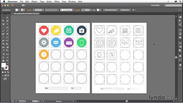 Challenge: Refining your artwork: Creating Icons with Illustrator
