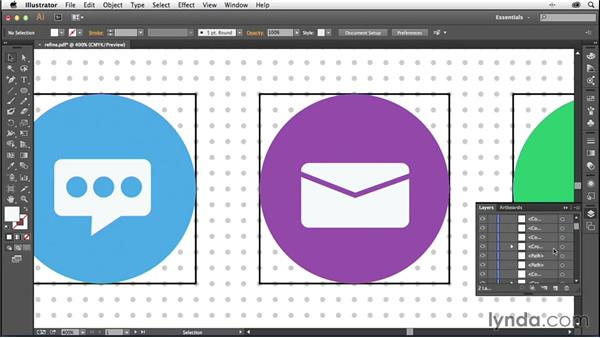 Solution: Refining your artwork: Creating Icons with Illustrator
