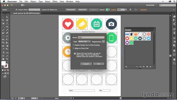 Saving your icons as a symbol library: Creating Icons with Illustrator