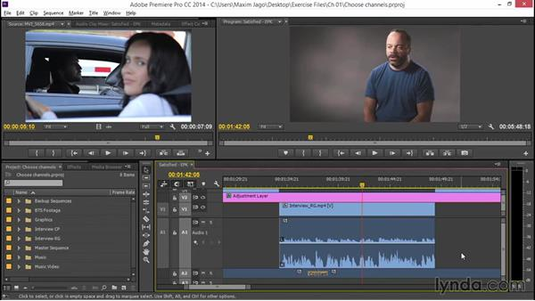 Choosing channels: EPK Editing Workflows 04: Audio Cleanup and Special Effects