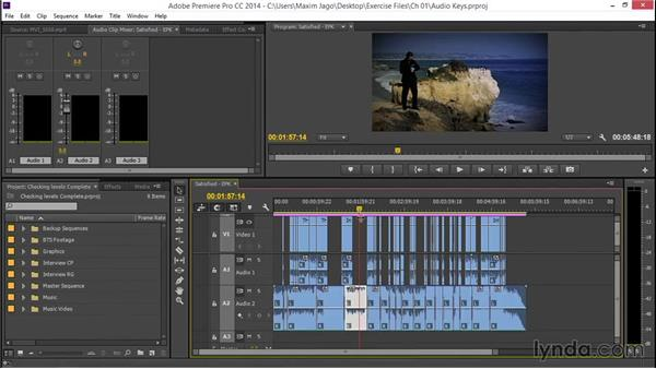 Keyframing audio levels: EPK Editing Workflows 04: Audio Cleanup and Special Effects