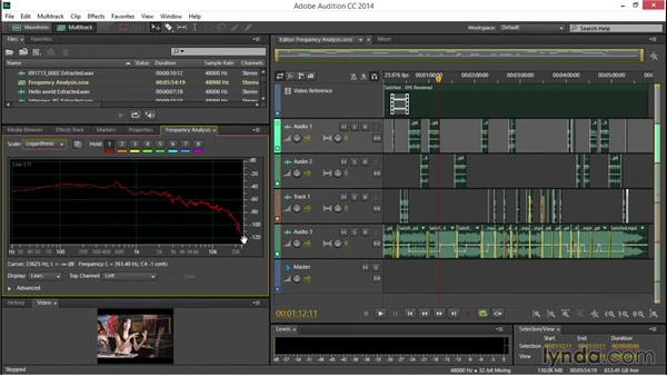 Performing frequency analysis: EPK Editing Workflows 04: Audio Cleanup and Special Effects