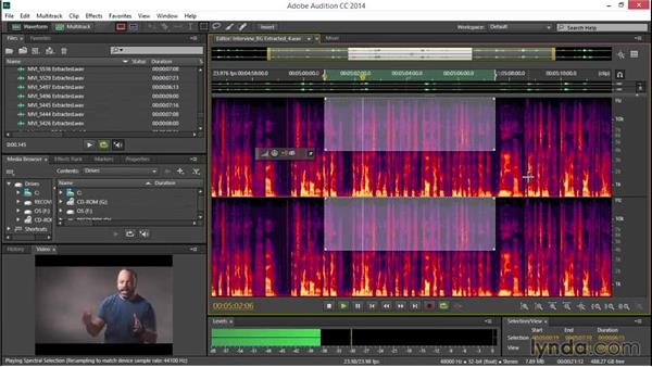 Using the Spectral Frequency Display: EPK Editing Workflows 04: Audio Cleanup and Special Effects
