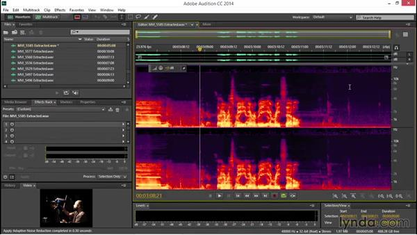 Reducing noise with automated tools: EPK Editing Workflows 04: Audio Cleanup and Special Effects