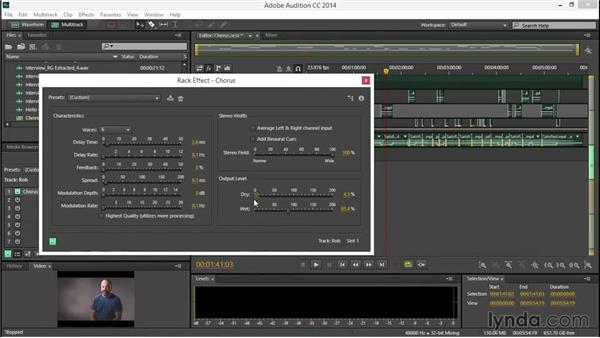 Using chorus effects: EPK Editing Workflows 04: Audio Cleanup and Special Effects