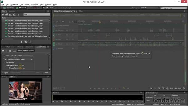 Bringing the mixed audio back to Premiere: EPK Editing Workflows 04: Audio Cleanup and Special Effects