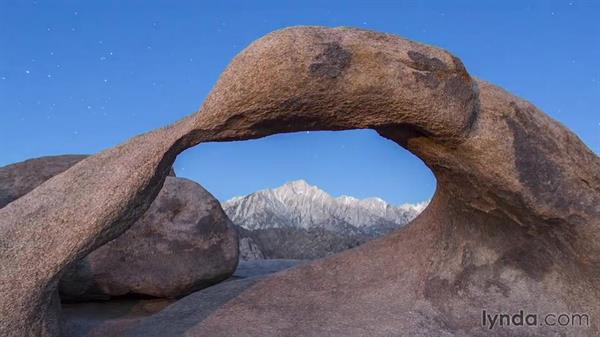 An overview of the location: Landscape Photography: California's Mobius Arch
