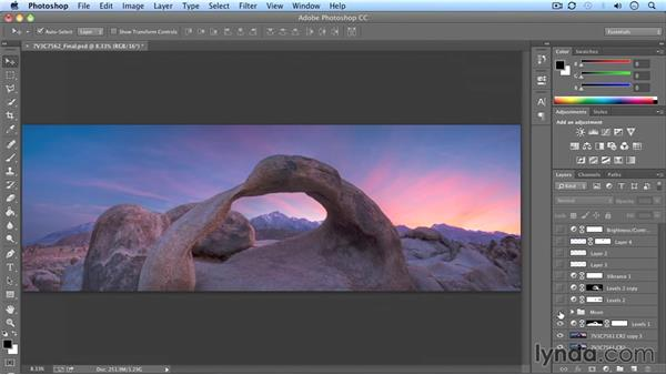 Developing a panorama: Landscape Photography: California's Mobius Arch
