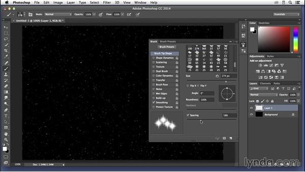 Creating a galaxy with Photoshop: Building the star field: Pixel Playground