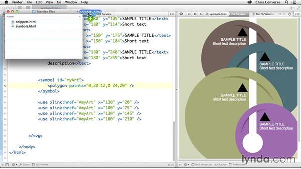 Updating the symbol source art: Design the Web: Using Symbols in SVG