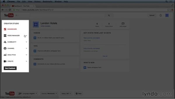 Reviewing the YouTube Creator Studio dashboard: Marketing and Monetizing on YouTube