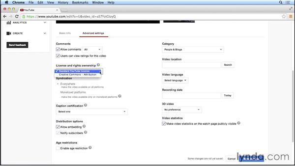Advanced video upload settings: Marketing and Monetizing on YouTube
