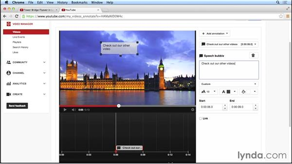 Adding annotations, notes, and links to videos: Marketing and Monetizing on YouTube
