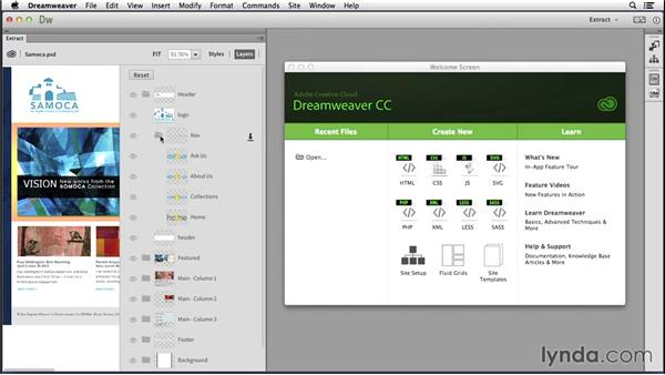 Introducing the Extract panel: Dreamweaver: 2014 Creative Cloud Updates