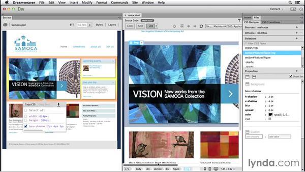 Retrieving CSS properties: Dreamweaver: 2014 Creative Cloud Updates