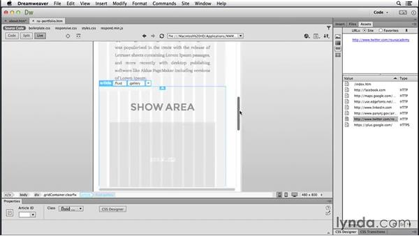 Examining enhanced Live view features: Dreamweaver: 2014 Creative Cloud Updates