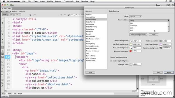 Theming the coding environment: Dreamweaver: 2014 Creative Cloud Updates