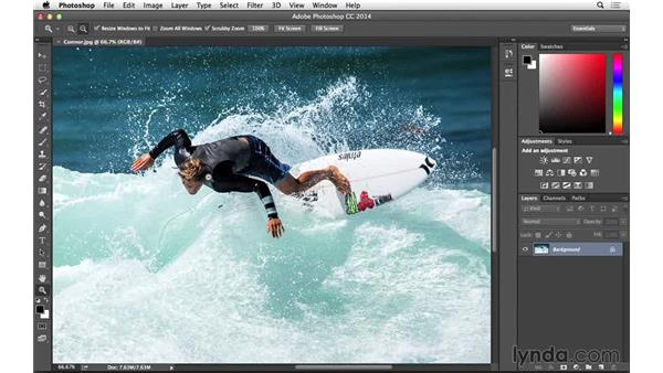 Better image viewing with Overscroll (CC 2014.1): Photoshop for Photographers: 2014 Creative Cloud Updates