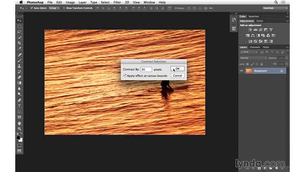 Creating a border with Modify selections (CC 2014.1): Photoshop for Photographers: 2014 Creative Cloud Updates