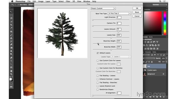 Rendering a tree for a creative layer blending (CC 2014.1): Photoshop for Photographers: 2014 Creative Cloud Updates