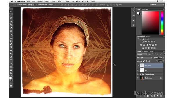 Blending and masking in the tree (CC 2014.1): Photoshop for Photographers: 2014 Creative Cloud Updates
