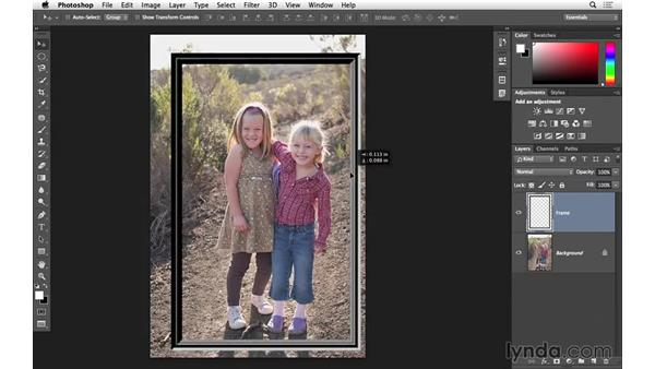 Adding a frame to a photograph (CC 2014.1): Photoshop for Photographers: 2014 Creative Cloud Updates