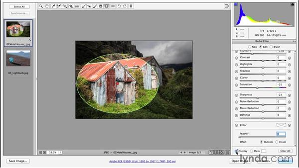 Adding a radial gradient (CC 2014.1): Photoshop CC Essential Training (2013)