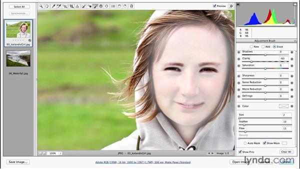 A quick portrait retouching technique using Clarity (CC 2014.1): Photoshop CC Essential Training (2013)
