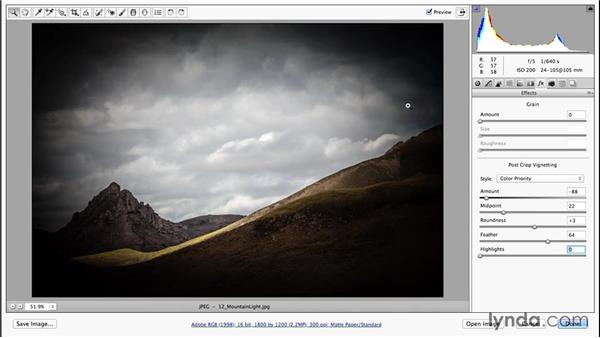 Adding vignettes and border effects (CC 2014.1): Photoshop CC Essential Training (2013)