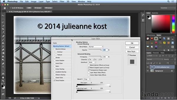Creating a transparent logo or watermark (CC 2014.1): Photoshop CC Essential Training (2013)