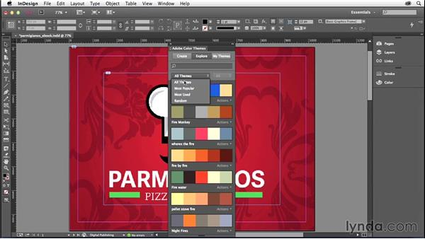 Working with the Adobe Color Theme panel: InDesign: 2014 Creative Cloud Updates
