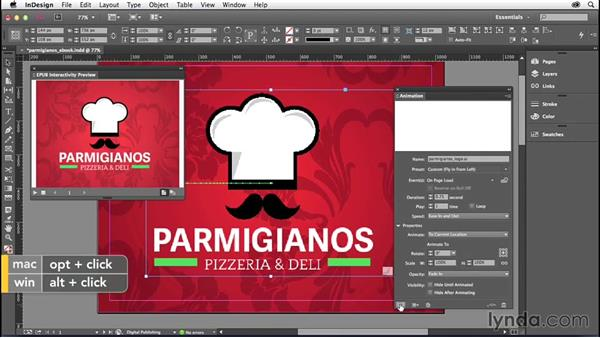 Working with the EPUB Interactivity Preview panel: InDesign: 2014 Creative Cloud Updates