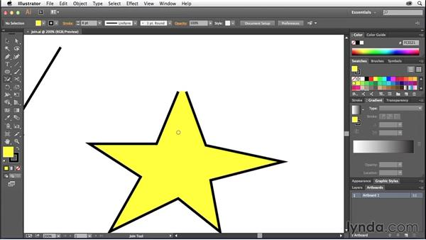 Working with the Join tool: Illustrator: 2014 Creative Cloud Updates