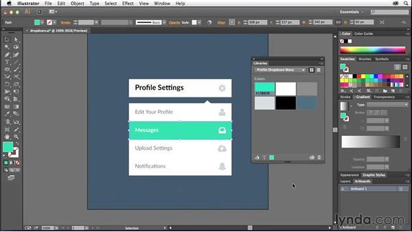 Using design libraries in your workflow: Illustrator: 2014 Creative Cloud Updates
