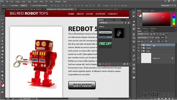 Saving and retrieving graphic objects: Photoshop: 2014 Creative Cloud Updates