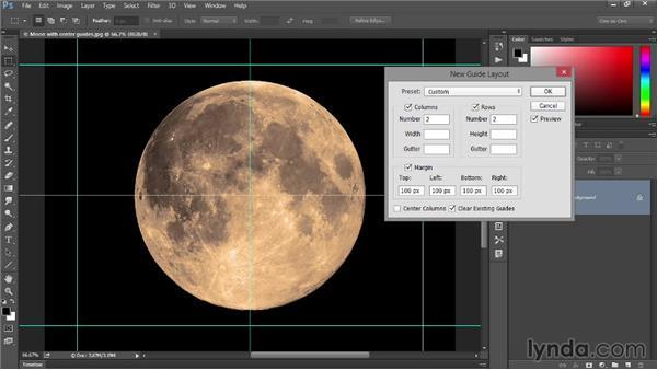 Column, row, and margin guides: Photoshop: 2014 Creative Cloud Updates