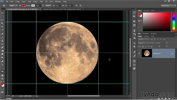 Creating guides from a shape layer: Photoshop: 2014 Creative Cloud Updates