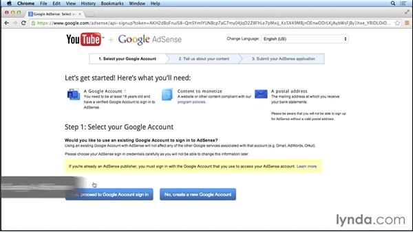 Receiving payments: Marketing and Monetizing on YouTube