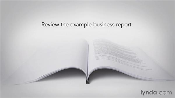 How to get the most out of this course: Writing Business Reports