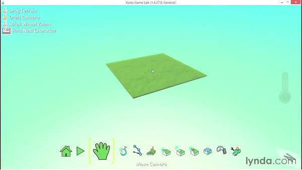 Using the Make Land tool: Learning Visual Programming with Kodu