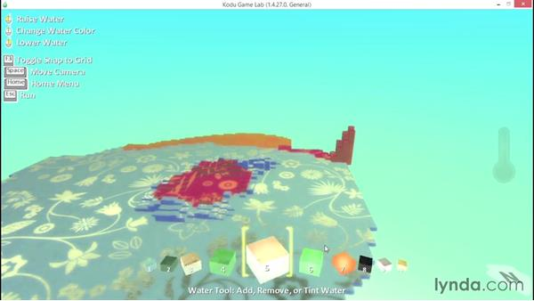 Using the Water Tool: Learning Visual Programming with Kodu