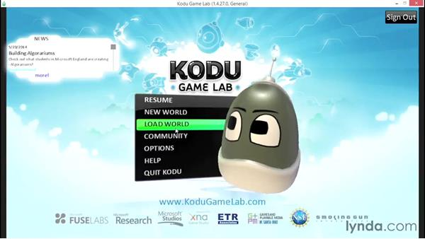Downloading and playing a game: Learning Visual Programming with Kodu