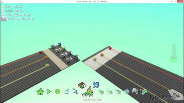 Starting from a sample world: Learning Visual Programming with Kodu