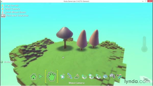 Exploring more basic object properties: Learning Visual Programming with Kodu