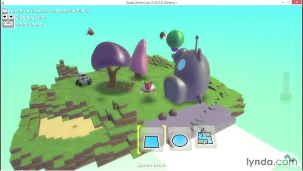 Using the Delete tool: Learning Visual Programming with Kodu