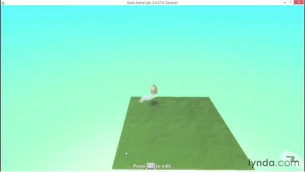 Programming using When/Do menus: Learning Visual Programming with Kodu