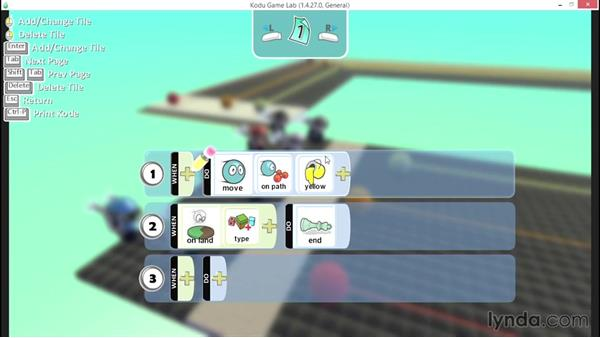 Reading When/Do commands: Learning Visual Programming with Kodu