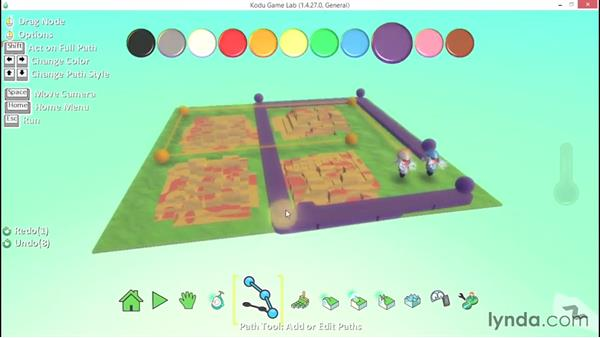 Creating advanced path types: Learning Visual Programming with Kodu