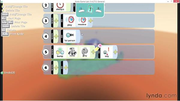 Creating a conversation: Learning Visual Programming with Kodu