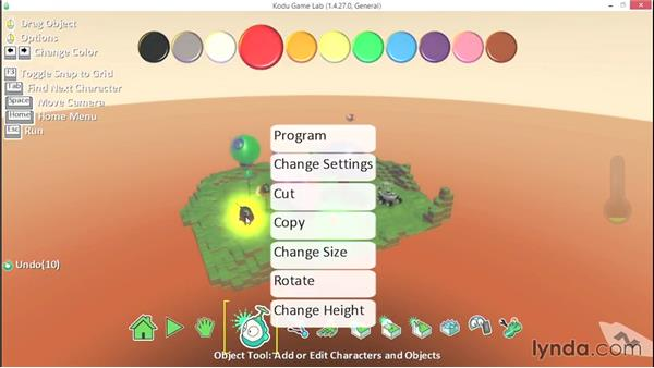 Controlling program flow: Learning Visual Programming with Kodu